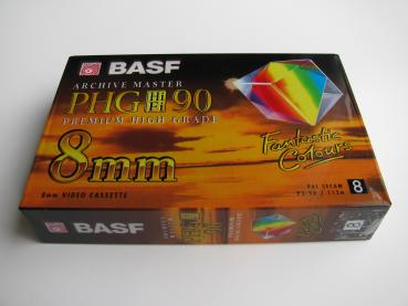 000-008 / BASF PHG HiFi 90min (8mm) Video8 Camcorder Video Kassette Tape (P5-90) OVP NEU