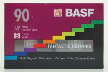 000-012 / BASF 90min Fantastic Colours (8mm) Video8 Kassette (MP P5-90) NEU OVP SEALED