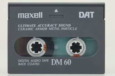 000-313 / MAXELL DM-60 Back Coated Professional DAT Kassette (1A USED)