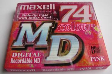 000-342 / MAXELL MD 74 PINK Recordable Mini Disc NEU
