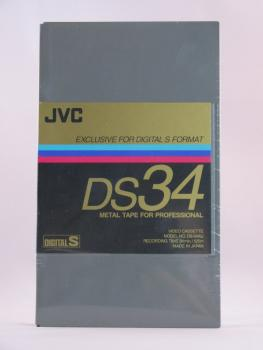 000-374 / JVC DS34 Metal Tape Digital-S (D9) Professional Video Kassette NEU