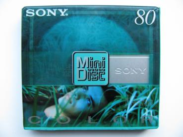 000-515 / SONY MD COLOR MDW 80 CRG Recordable MD Mini Disc NEU