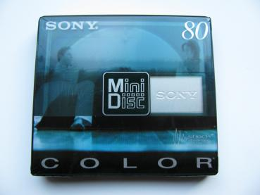 000-519 / SONY MD COLOR MDW-80 CRB Recordable MD Mini Disc NEU