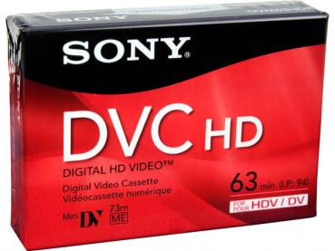 000-656 / SONY DVC 63 HD Mini-HDV/DV Camcorder Video Kassette NEU