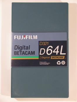 000-694 / FUJI D-321 D64L (large) DIGITAL BETACAM Professional Video Kassette NEU