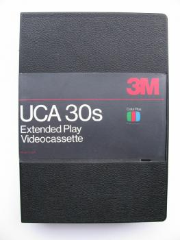 000-799 / 3M - UCA 30S (small) U-MATIC Profi Video Kassette (Old Stock)