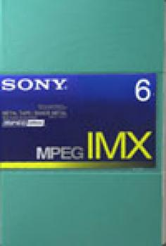 000-950 / SONY BCT-6MX MPEG IMX Professional Video Kassette 6Min NEU