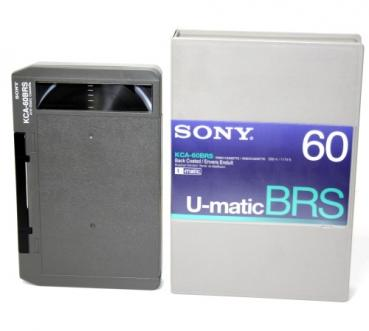 000-967 / SONY KCA-60 BRS (large) U-MATIC Professional Video Kassette NEU