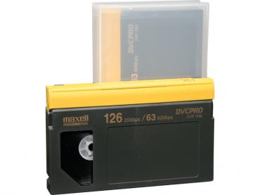 001-144 / MAXELL 126min DVCPRO Professional Video Tape Kassette (gross) DVP-126L OVP NEU