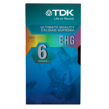 001-584 / TDK T-120-EHG LIFE-ON-RECORD Video Kassette NEU
