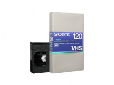001-587 / SONY T-120 BA VHS HARD BOX Professional Video Kassette NEU