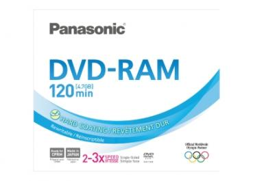 001-638 / PANASONIC DVD-RAM 4.7GB 1x5x Single Sided Jewel (LM-AF120ME) NEU