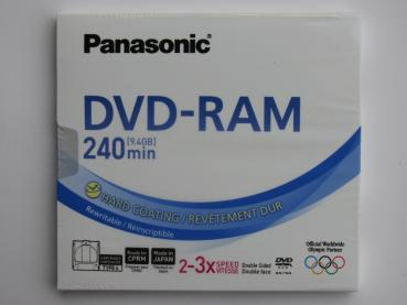 001-640 / PANASONIC DVD-RAM 9.4GB TYPE-4 240min 2x-3x Cartridge (LM-AD240LE)NEU