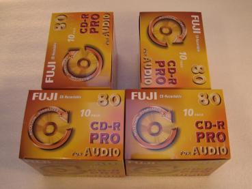 002-133 / 1x40 PACK FUJI CD-R PRO 80 Minuten AUDIO Rohlinge Write Once Jewel Case OVP NEU