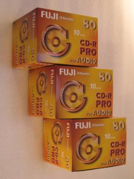 002-134 / 1x30 PACK FUJI CD-R PRO 80 Minuten AUDIO Rohlinge Write Once Jewel Case OVP NEU