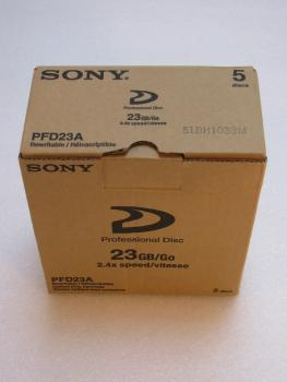 002-854 / 1x5 PACK SONY PFD-23A XDCAM HD PROFESSIONAL DISC 23GB 2x-4x NEU