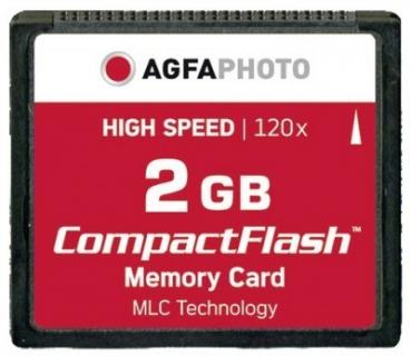 003-048 / AGFA Compact Flash Card 2GB HighSpeed 120x MLC Speicherkarte (10431) NEU