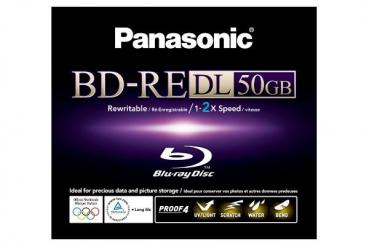 003-434 / PANASONIC BD-RE DL Blu-Ray Disc 50GB 1x2 Printable (LM-BE50WE) NEU