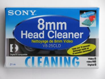 003-726 / SONY 8mm HEAD CLEANER Video8+Hi8+D8 Reinigungskassette (V8-25CLD) NEU