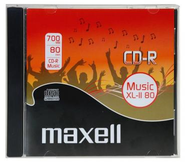 003-748 / MAXELL CD-R Audio Music XL-II 80 700MB Jewel (624880) NEU