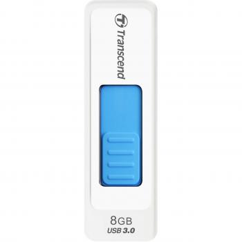 003-935 / TRANSCEND USB3.0 Stick Jetflash770 8GB white/blue (TS8GJF770) NEU