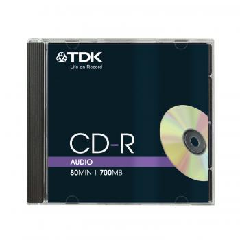 004-686 / TDK CD-R Audio 80min 700MB RXG JewelCase (CD-RXG80JC) NEU