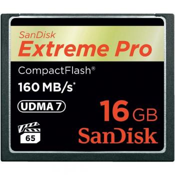 004-770 / SanDisk CF Card 16GB ExtremePro 160MB/s (SDCFXPS-016G-X46) NEU