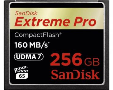 004-774 / SanDisk CF Card 256 GB ExtremePro 160MB/s (SDCFXPS-256G-X46) NEU