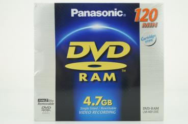 004-810 / PANASONIC DVD-RAM 4.7GB 120min 2x-3x Cartridge (LM-AB120E) NEU