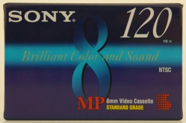 004-818 / SONY MP 85min (8mm) Video8 Camcorder Kassette (P6-120MPC) NEU