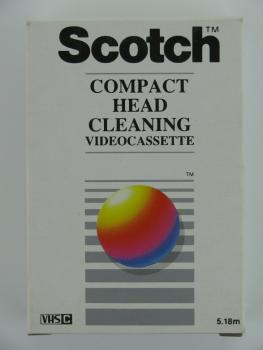 004-913 / SCOTCH Compact Head Cleaning Videocassette for VHS-C Camcorder NEU