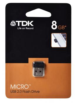 "005-027 / TDK USB 2.0 Stick 8GB FlashDrive ""Micro"" (t78845) NEU"