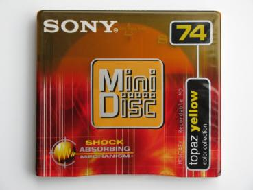 "005-198 / SONY 74min Color Collection ""Yellow"" MINI DISC (MDW-74EY) NEU"