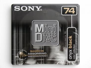 "005-202 / SONY 74min Color Collection ""Onyx Black"" MINI DISC (MDW-74EB) NEU"