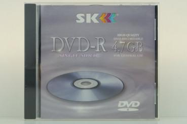 "005-976 / SK DVD-R Disc Rohling WriteOnce 1x16x 4.7GB ""For General Use"" JEWEL NEU"