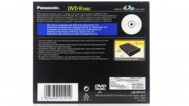 "005-982 / PANASONIC DVD-R Disc ""For General"" 4.7GB Jewel Case (LM-RF47F) NEU"