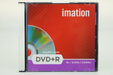 006-081 / IMATION DVD+R DL Double Layer Disc 8.5GB 240min 8x SLIM CASE NEU