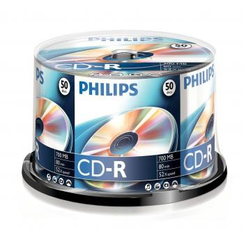 008-327 / 1x50 PHILIPS CD-R Rohlinge 80Min 700MB 52x Cakebox (CR7D5NB50/00) NEU