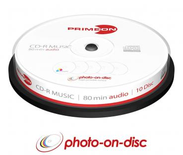 008-351 / 1x10 PRIMEON CD-R AUDIO Discs WriteOnce 80Min Cakebox (2761111) OVP NEU