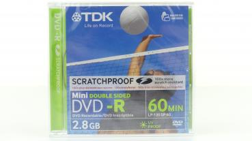 008-395 / TDK 8cm DVD-R Camcorder Disc 2.8GB 60min Double Sided (DVD-R28SPEC) NEU