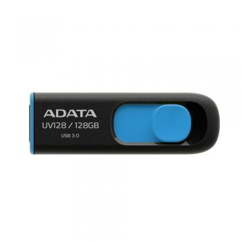 009-423 / ADATA USB 3.0 Stick 128GB UV128 Black/Blue (AUV128-128G-RBE) NEU