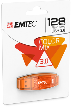"009-442 / EMTEC USB 3.0 Stick 128GB C410 ""Orange""(ECMMD128GC410) NEU"