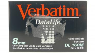 009-494 / VERBATIM D8 (8mm) DATA CARTRIDGE NEU