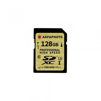 009-528 / AGFA SDXC Card 128GB Class10 UHS-I (U3) R95/W90  Professional High Speed (10602) OVP NEU