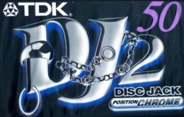 "009-673 / TDK 50min High Position Type-II Chrome ""Disc Jack"" Audio Cassette (DJ2-50EA) OVP NEU"