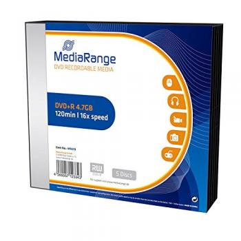 009-949 / 1x5 MediaRange DVD+R WriteOnce 4.7GB 16x SLIM CASE (MR419) OVP NEU