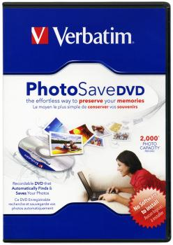 010-059 / VERBATIM PHOTO SAVE DVD Disc in VIDEO BOX (43701) NEU