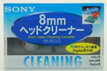 010-101 / SONY 8mm HEAD CLEANER Video8+Hi8+D8 Japan Version (V8-25CLD) NEU