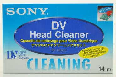010-166 / SONY DV Head Cleaner Reinigungskassette (Large) Cleaning Cassette (DV-12CLD) OVP NEU