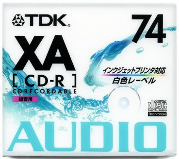 010-178 / TDK Audio CD-R Disc WriteOnce 74min 700MB JEWEL (CD-RXA74PWN) NEU